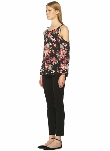 Joie Omuzları Açık Çiçekli Bluz Renkli